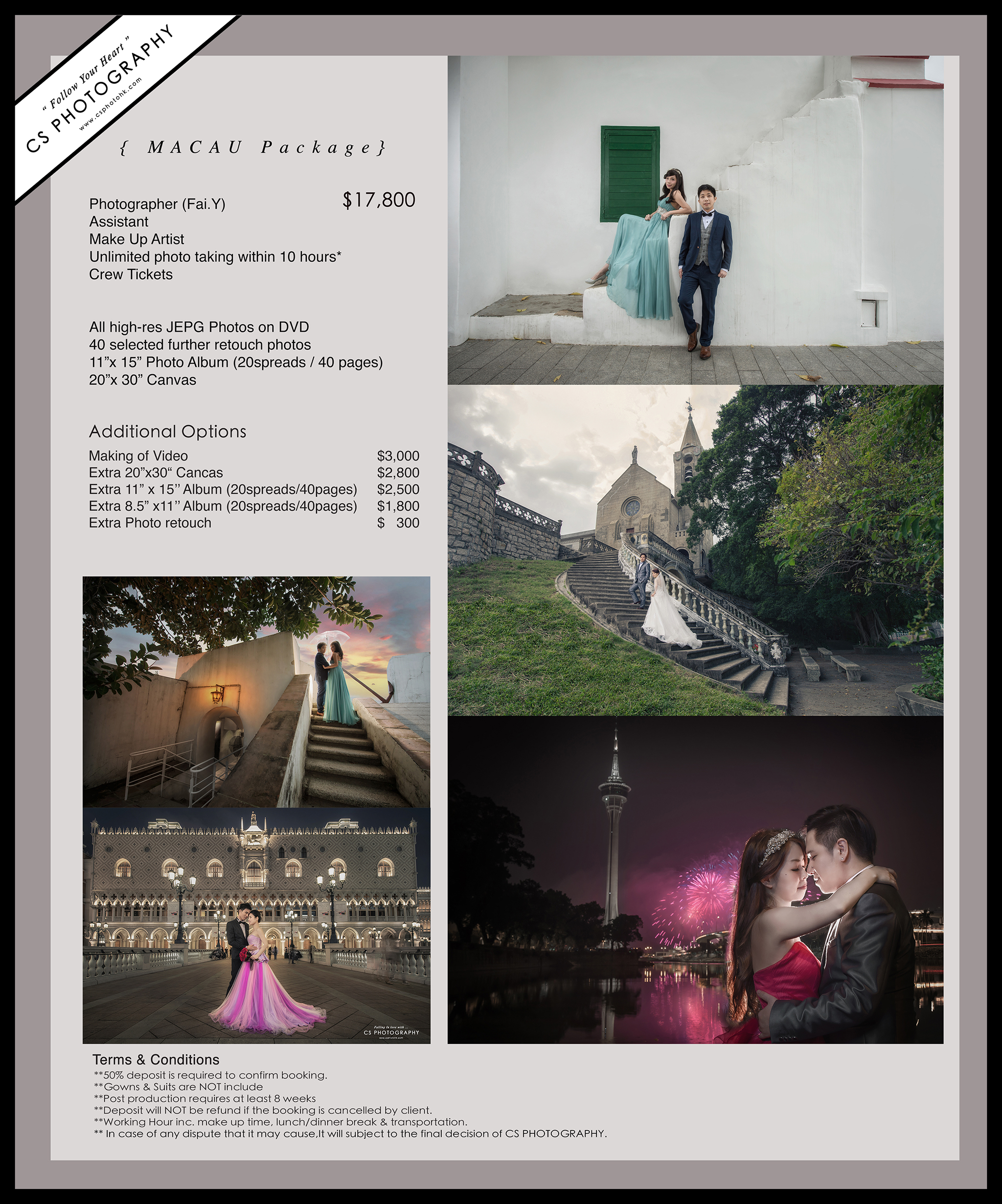 Wedding Photography Rate: RATE CARD – PRE WEDDING